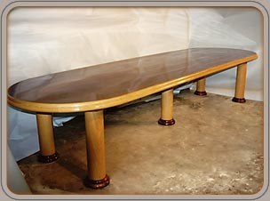 custom mahogany and oak conference tables