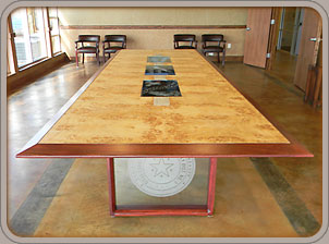 American Black Walnut custom solid wood conference table