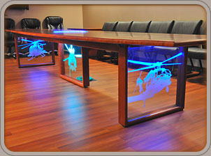 Custom Conference Tables Solid Wood Conference Tables - Custom glass conference table